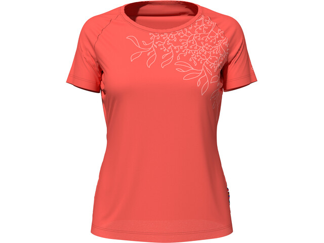 Odlo Concord T-shirt Damer, hot coral/leaf print